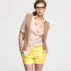 COPY - J. Crew Yellow Twill Chino City Fit Shorts